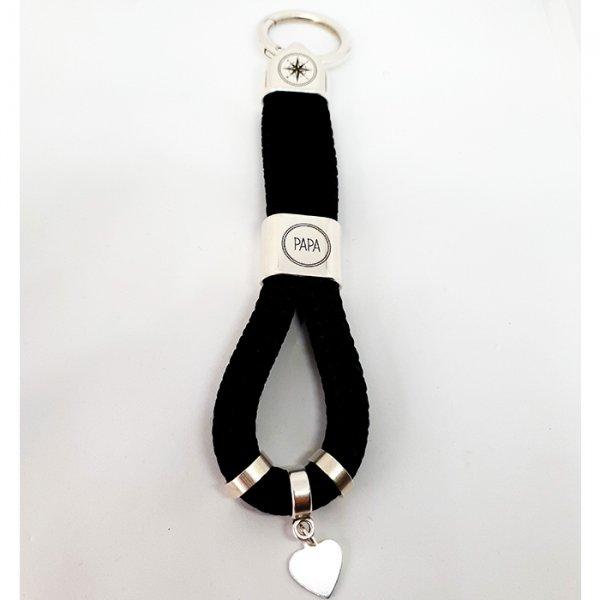 Papa / Kompass - Schlüsselanhänger mit Segeltau