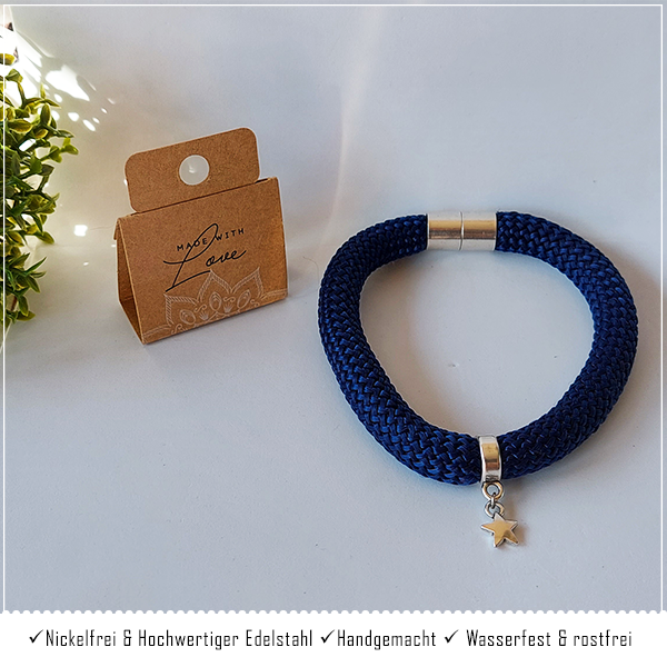 Segeltau Armband Dark Blue