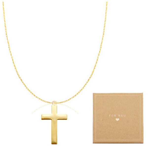 Kreuz Halskette in Gold