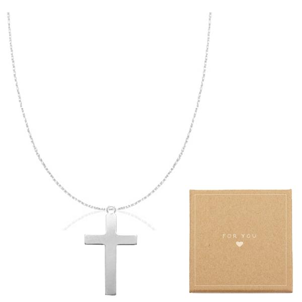 Kreuz Halskette in Silber