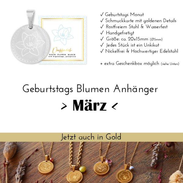 Birth Flower März - Narzisse in Silber
