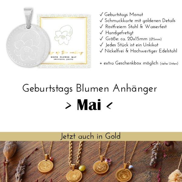 Birth Flower Mai - Maiglöckchen in Silber