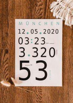 Minimalistisches - Poster für die Geburt