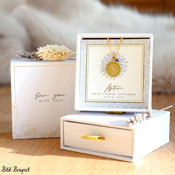 "Schmuck-(Geschenk)-Box ""for you with love"" White"